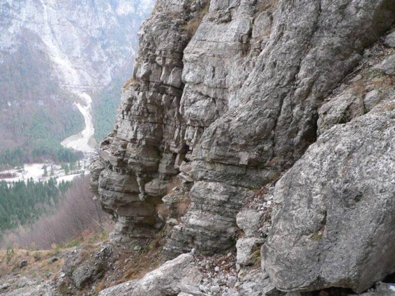 Calcareniti di Listolade (Formazione di Agordo) nella valle di San Lucano - Proff. Alberto Bertini
