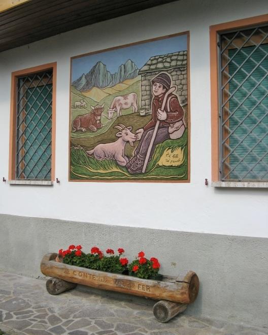 L'é bèl sé pensà - Graffito di Dunio Piccolin Alleghe