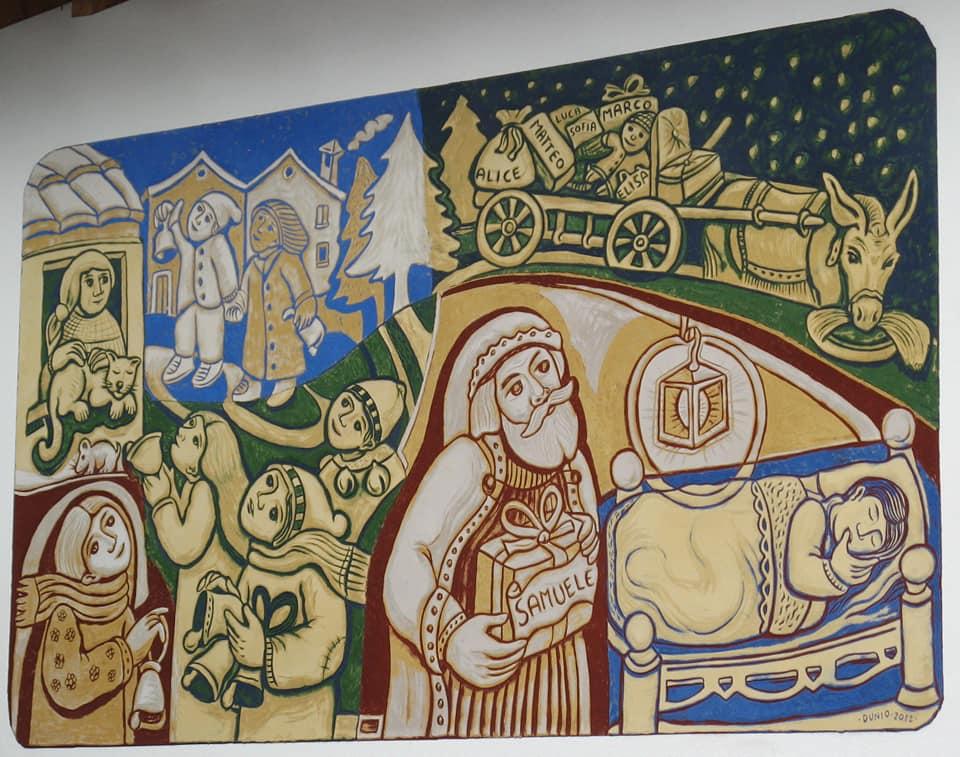 La vigilia di S. Nicolò di Dunio Piccolin Agordo- Paese del graffito