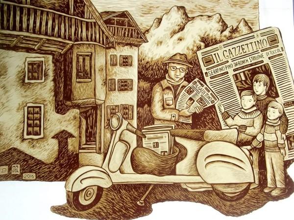 Pino dei Giornai di Marta Farina Agordo - Paese del graffito