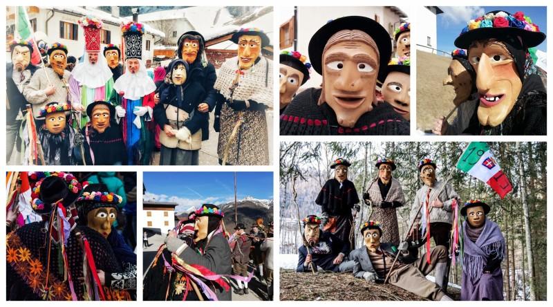 Olt da Riva: maschere di legno delle Dolomiti Agordine