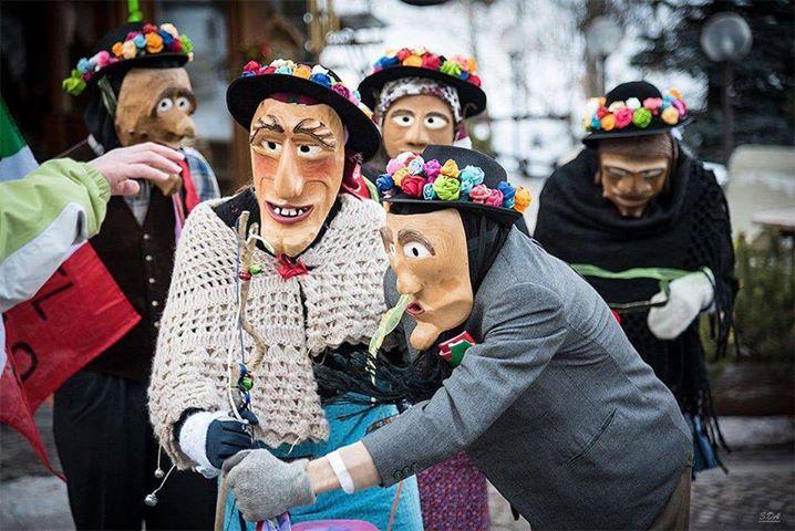 Carnevale Agordino - Mascorèda a Sottoguda - Òlt da Riva