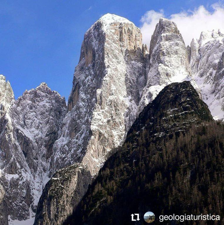 Monte Agner visto dalla Valle di San Lucano di A. Bertini