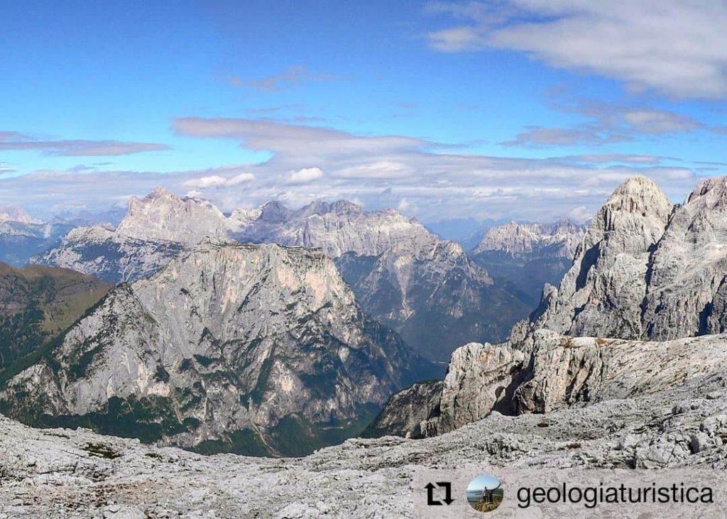 Panorama da Forcella del Miel - Pale di S. Martino
