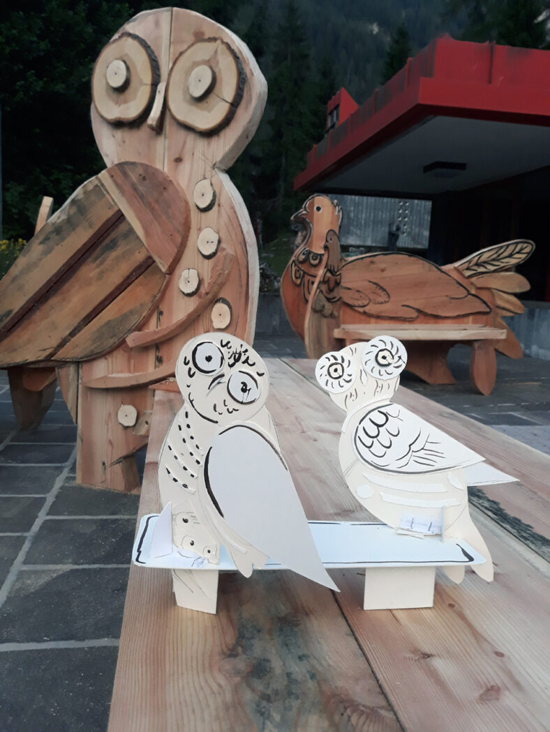 Panchine con legno di Vaia - Franco Murer