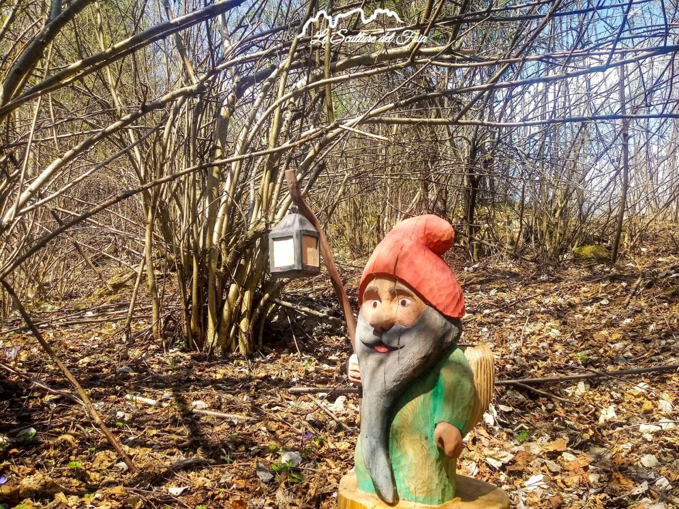 Le Sculture del Foia - Covid - A spasso nel bosco di Marco Valt