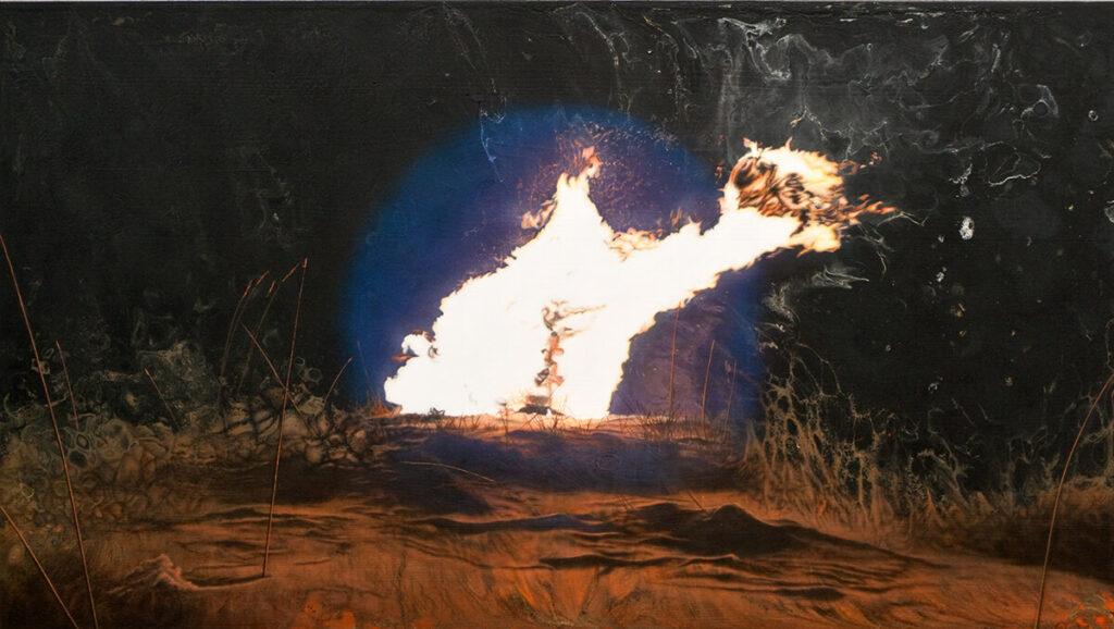 Pagarui 62x110cm acrilico e olio su multistrato 2019 - Ottavio Rossi