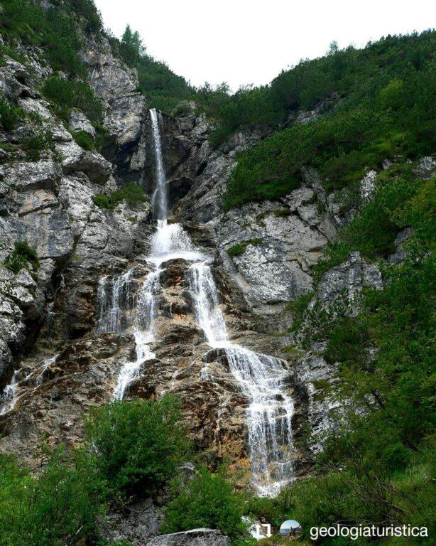 El Vach - Cascata nel Gruppo del San Sebastiano, Zoldo
