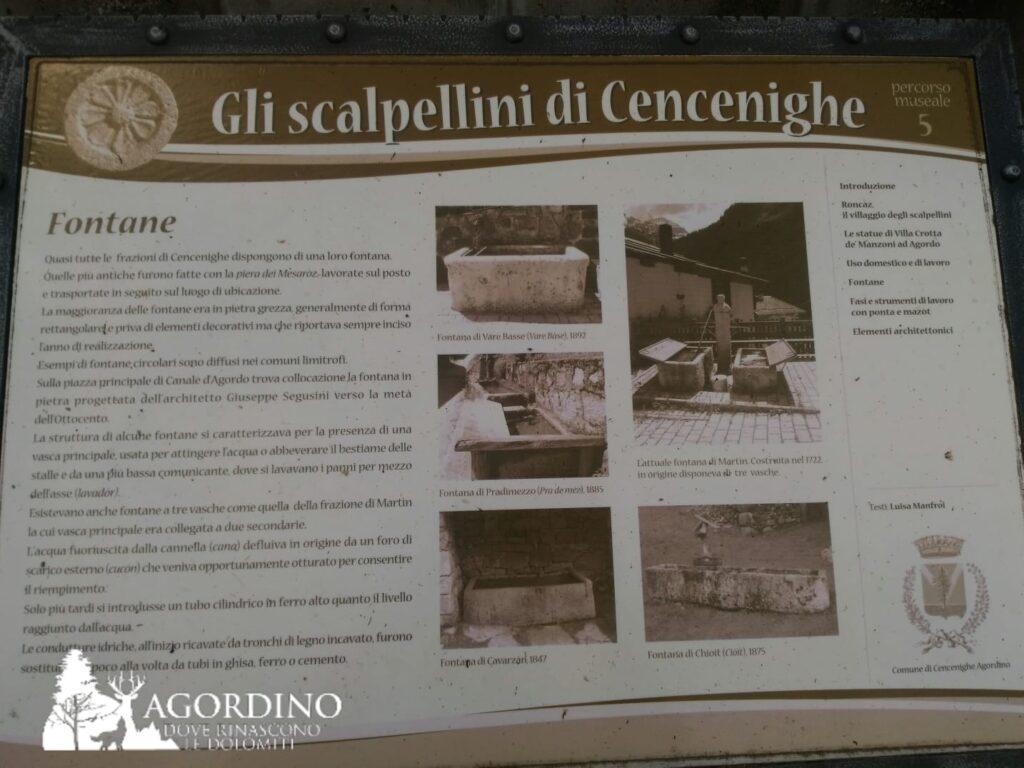 """Museo all'aperto """"gli Scalpellini di Cencenighe Agordino"""""""