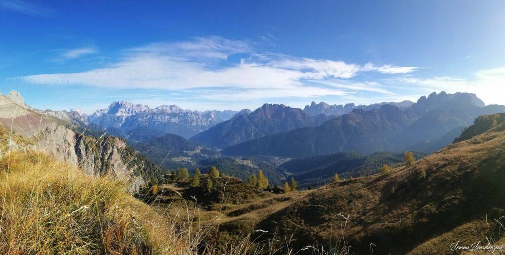 Panorama dal Sass de La Palazza di Serena Scardanzan