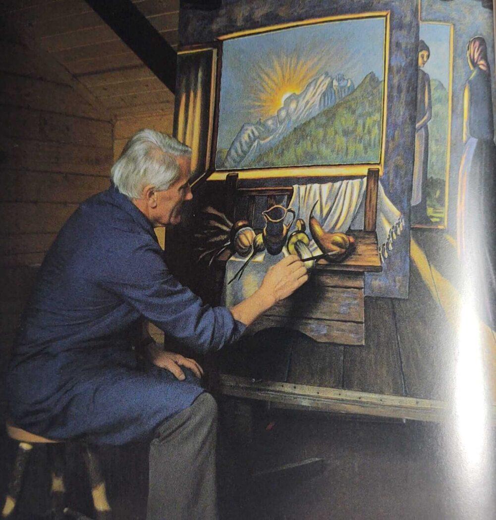 Giuliano nel suo studio Fotografia Dario Fontanive
