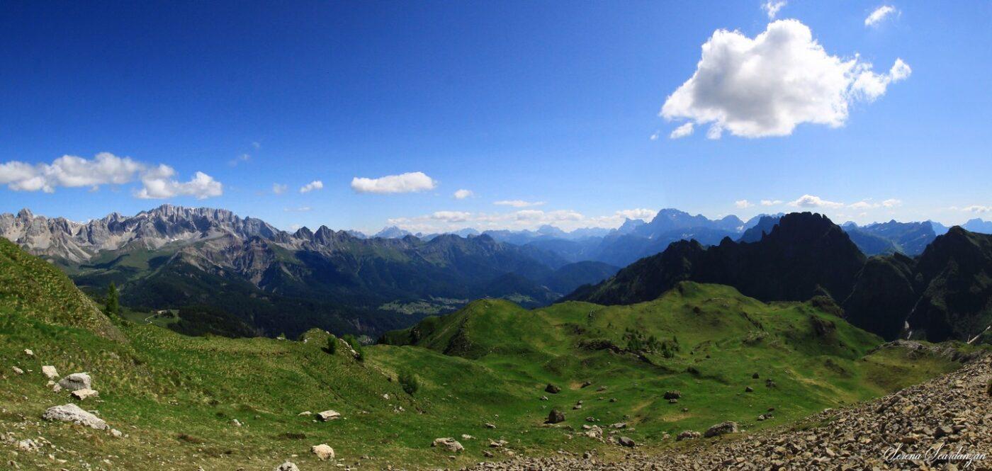 Panorama dal Passo dei Fochetti del Focobon di Serena Scardanzan