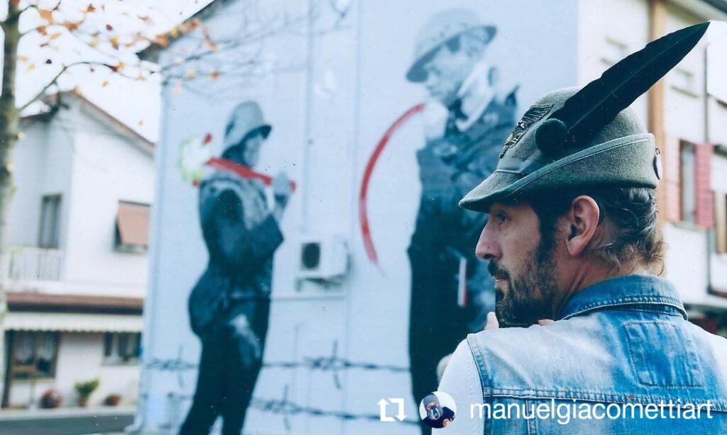Manuel Giacometti Murales per i il Centenario della Grande Guerra a Salgareda Vecchia
