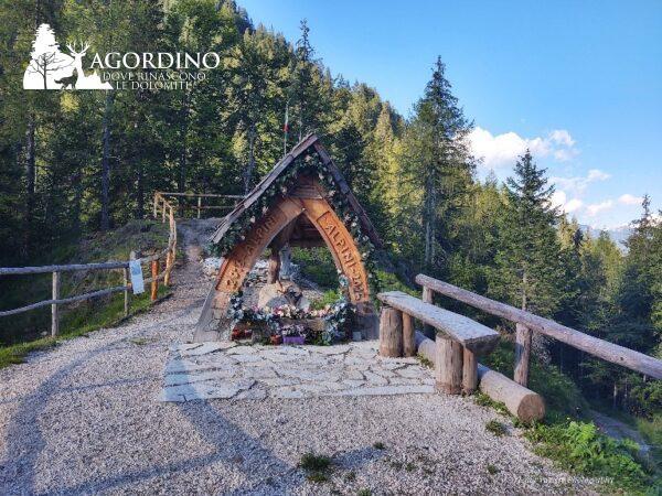 Madonna della Forzela - Il sentiero delle Dolomiti in miniatura a San Tomaso Agordino