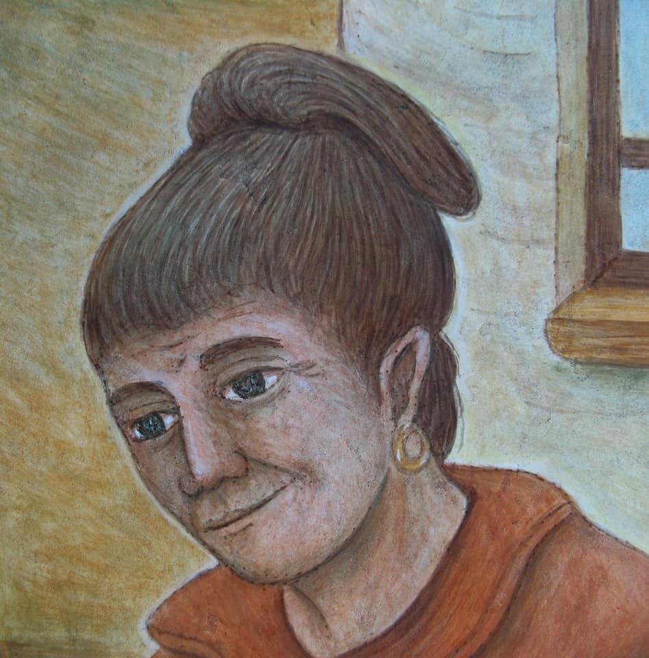 Particolare dell'affresco di Dunio Piccolin - Omaggio a nonna Giulia