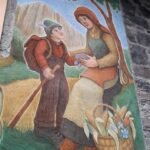 Affresco a Canale d'Agordo di Dunio Piccolin particolare del graffito
