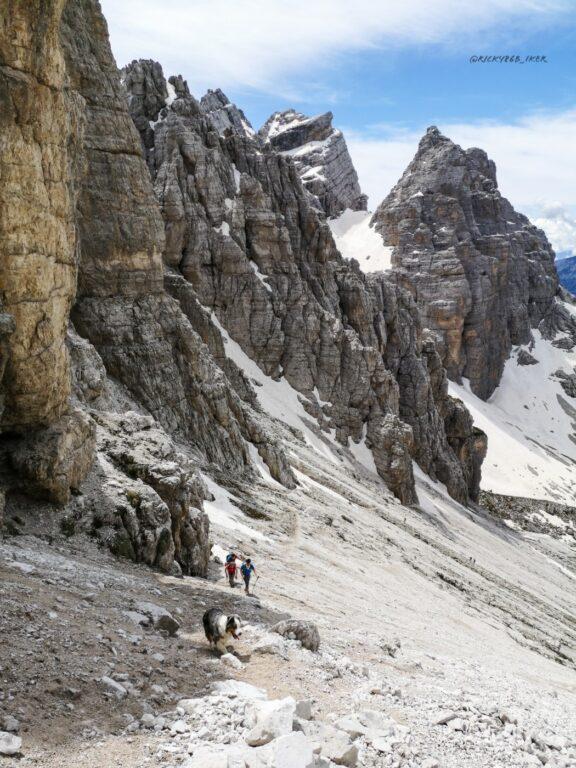 la catena Dolomitica formata dal San Sebastiano e dai Tamer