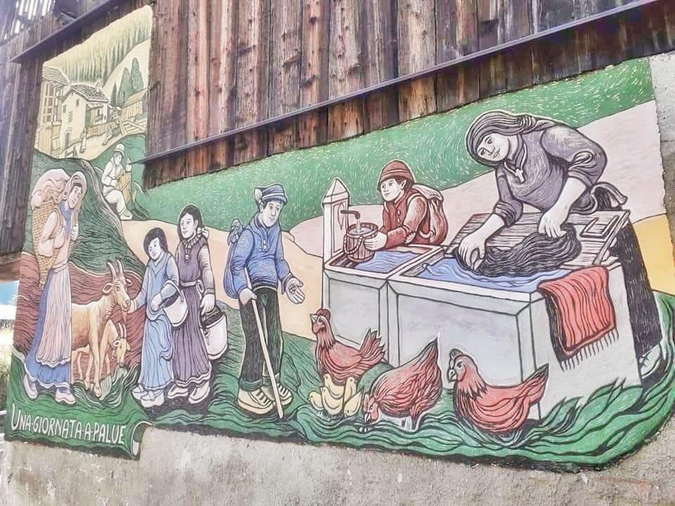 Una Giornata a Palue Rocca Pietore - Graffito di Dunio Piccolin