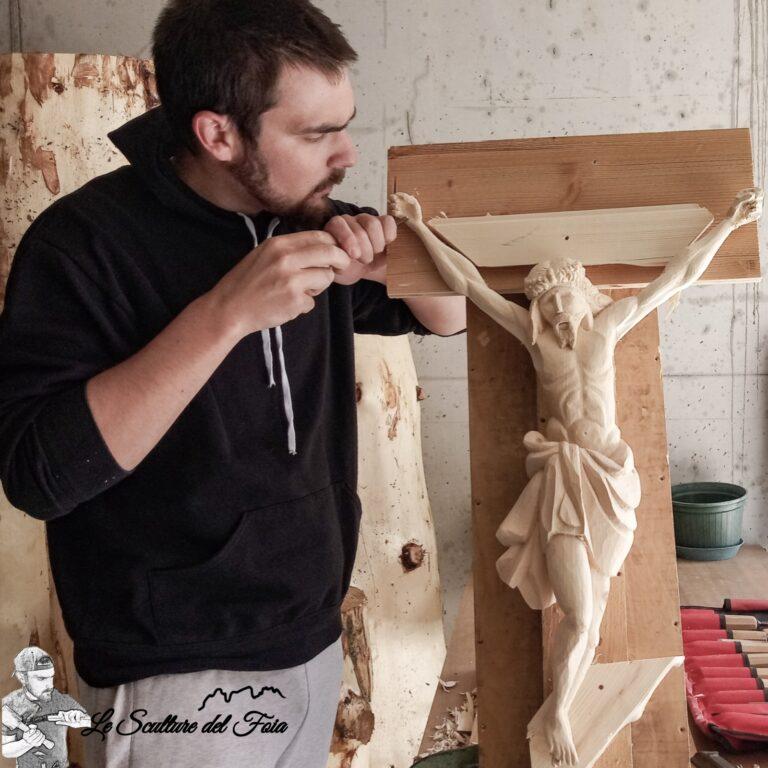 Le sculture del Foia - Marco Valt al lavoro