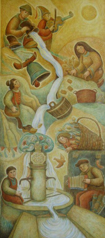 Affresco a Vallada - Storie di Vallada di Dunio Piccolin