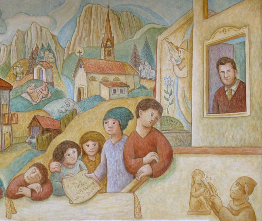 Affresco a Falcade - Una vita insieme di Dunio Piccolin