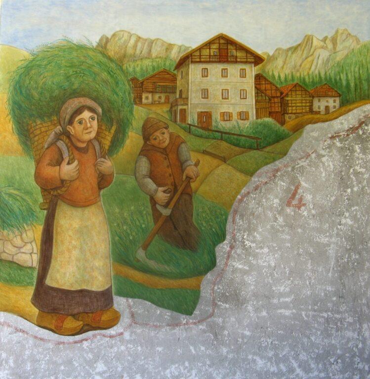 Affresco a Vallada A me mare di Dunio Piccolin