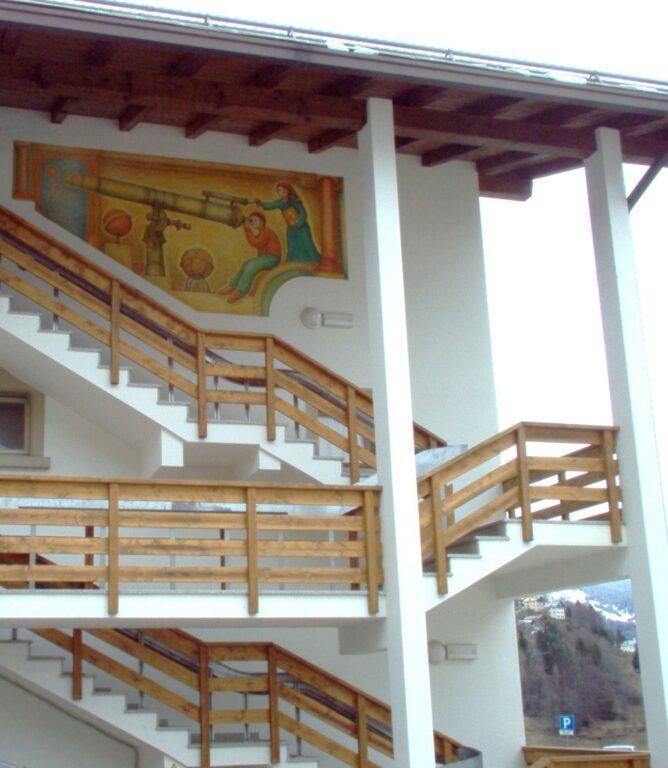 Affresco a San Tomaso - Bimbi al cannocchiale di Dunio Piccolin