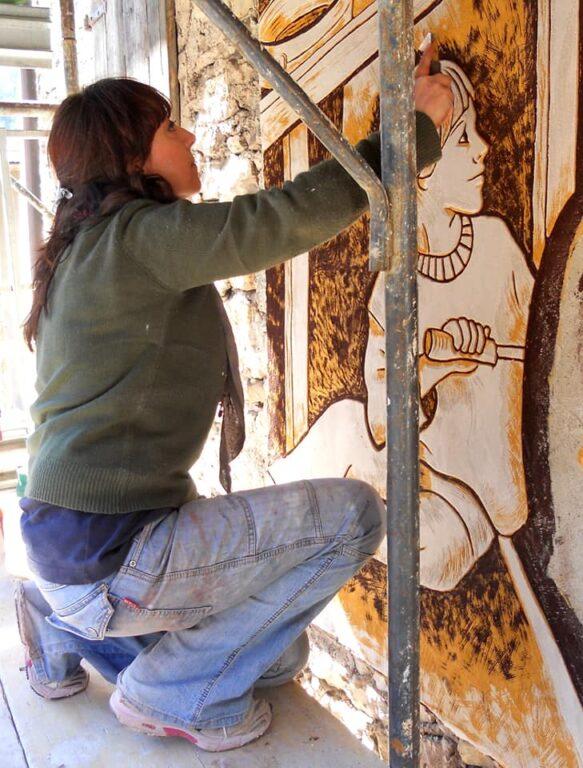 Manuela Sabatini - Agordo- Paese del graffito