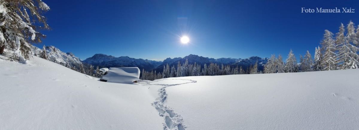 Due passi sulla Neve a Baita Colmont