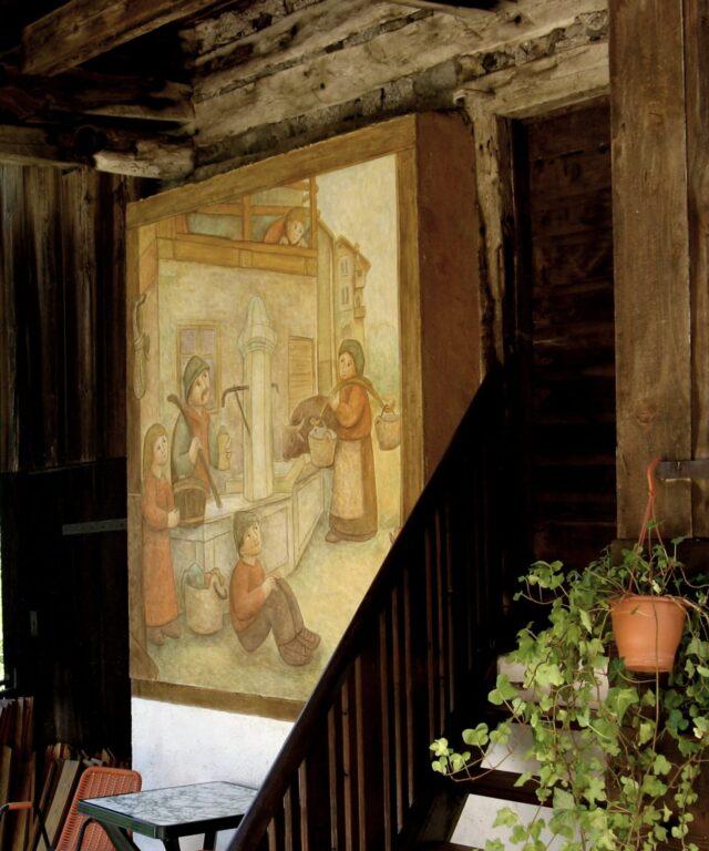 La brenta di Cesaril di Dunio Piccolin - Affresco ad Alleghe