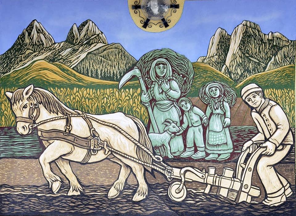 Le ere del sorch di Dunio Piccolin e Paolo Mosca Agordo Paese del Graffito