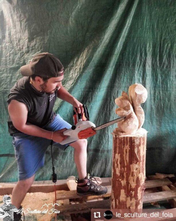 Le sculture del Foia - La Schirata e la Motosega di Marco Valt