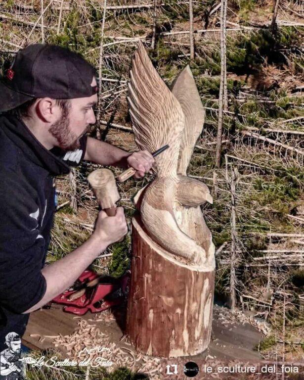 Le sculture del Foia - Vaia, Nuova vita di Marco Valt