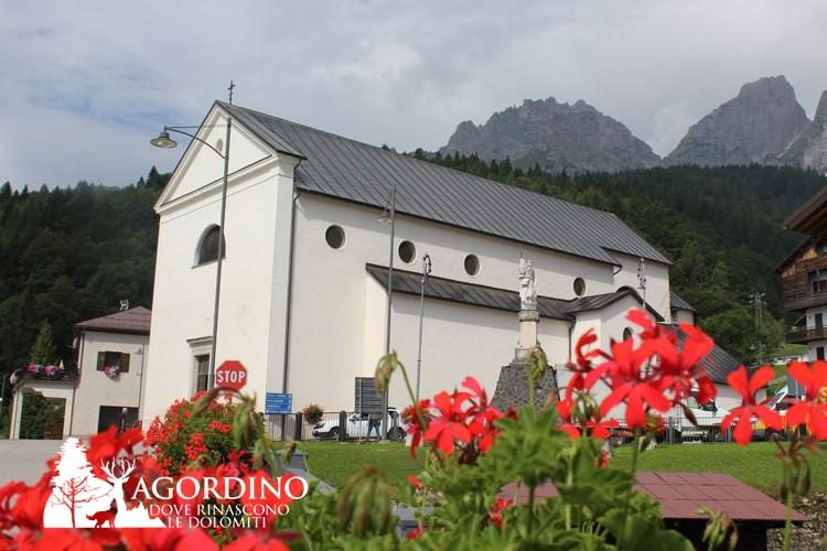 La nuova Chiesa dedicata alla Beata Vergine Addolorata -Gosaldo - Gosalt