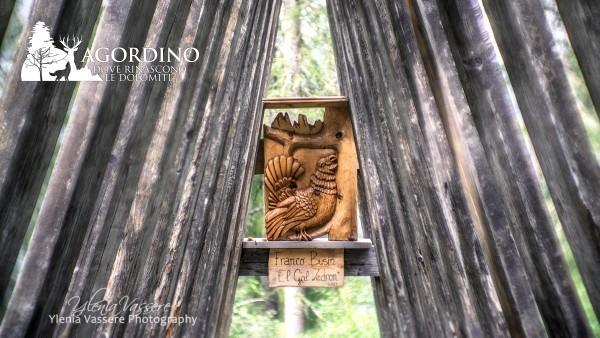 IL BOSCO DEGLI ARTISTI VALLES sculture dolomiti