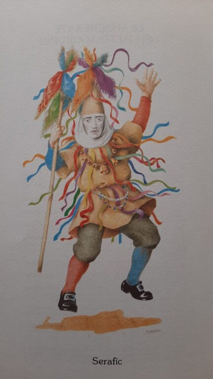 Carnevale Agordino- Serafìc-Antica maschera Falcadina