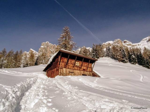 Baita Colmont in Inverno di Cristina Fiocco