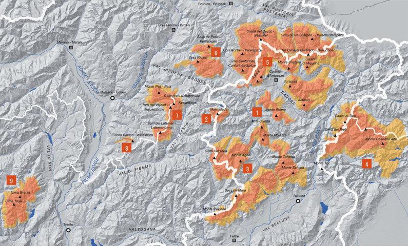 Sistemi Dolomiti Unesco - Immagine dal sito Dolomitiunesco.info