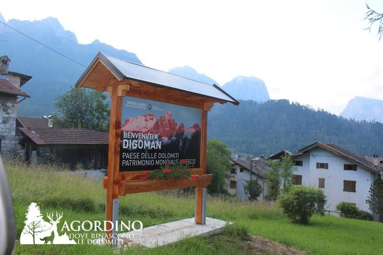 Tabella Unesco a Digoman- Voltago Agordino