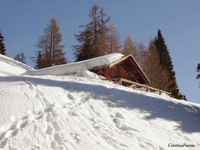 Baita Pianezza in inverno - Vallada Agordina di Cristina Fiocco