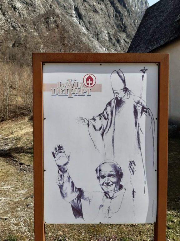 La Via dei Papi - Disegno di Franco Murer
